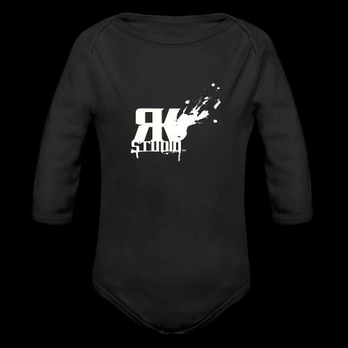 RKStudio White Logo Version - Organic Long Sleeve Baby Bodysuit
