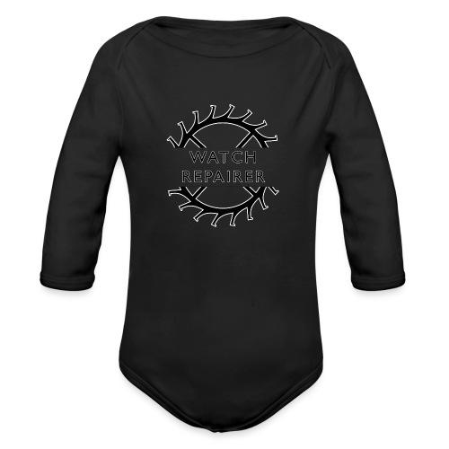 Watch Repairer Emblem - Organic Long Sleeve Baby Bodysuit