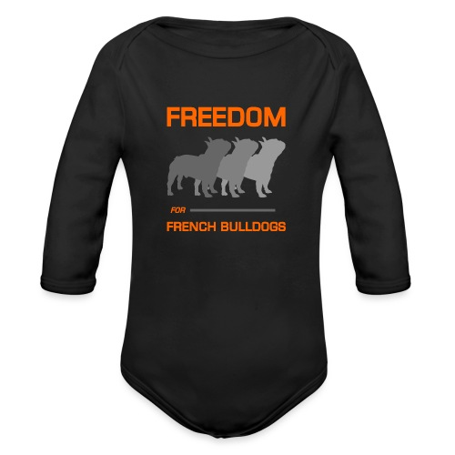 French Bulldogs - Organic Long Sleeve Baby Bodysuit