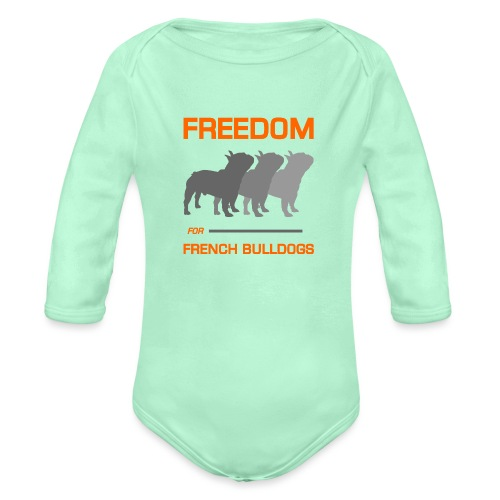 French Bulldogs - Organic Long Sleeve Baby Bodysuit