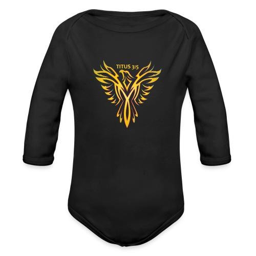 Titus 3:5 - Organic Long Sleeve Baby Bodysuit