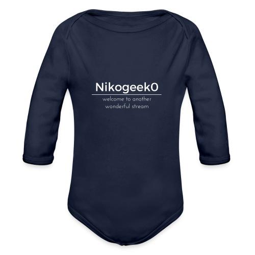 Another Wonderful Stream - Organic Long Sleeve Baby Bodysuit