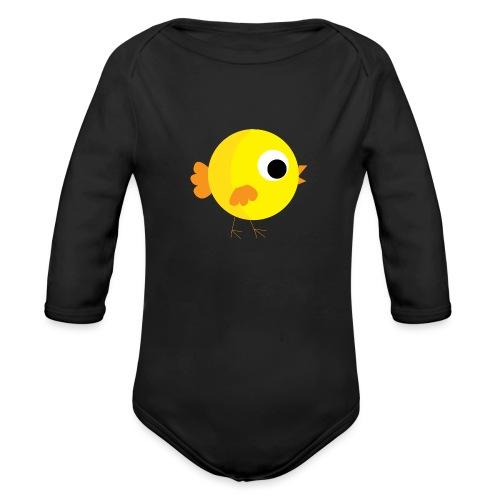 HENNYTHEPENNY1 01 - Organic Long Sleeve Baby Bodysuit
