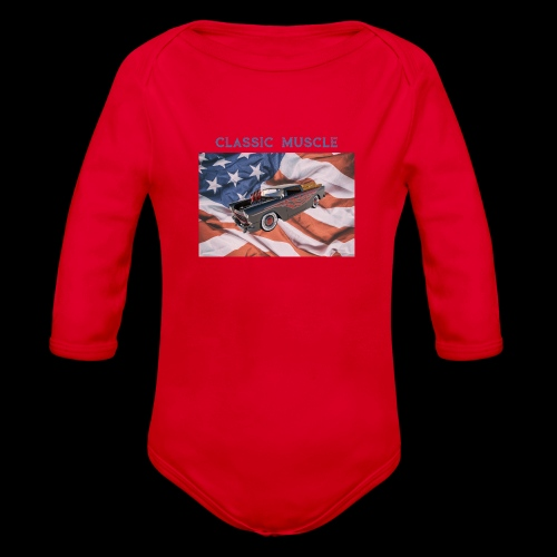 CLASSIC MUSCLE - Organic Long Sleeve Baby Bodysuit