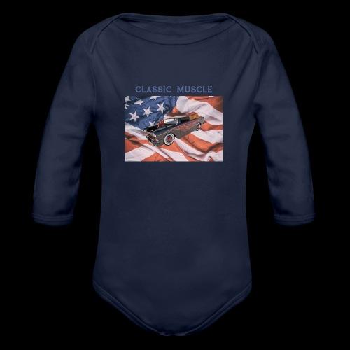 CLASSIC MUSCLE - Organic Long Sleeve Baby Bodysuit