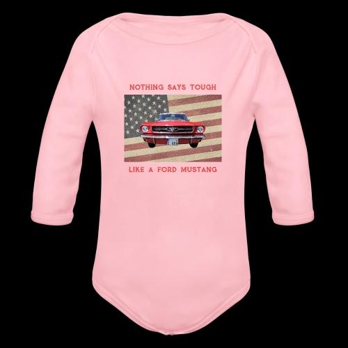 Mustang Tough - Organic Long Sleeve Baby Bodysuit