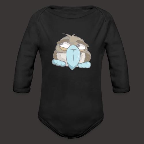 Cute Boobie Bird - Organic Long Sleeve Baby Bodysuit