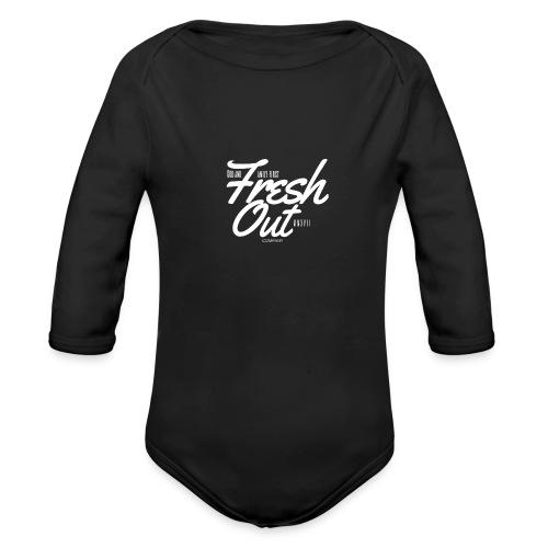 Fresh Out Beats Logo 24 - Organic Long Sleeve Baby Bodysuit
