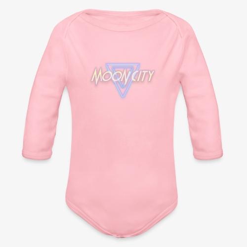 Moon City Logo - Organic Long Sleeve Baby Bodysuit