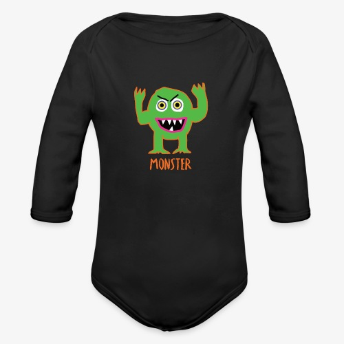 Monster - Organic Long Sleeve Baby Bodysuit