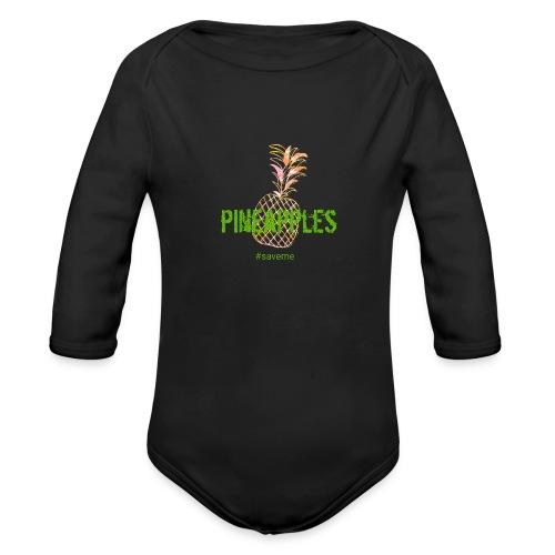 pineapples - Organic Long Sleeve Baby Bodysuit