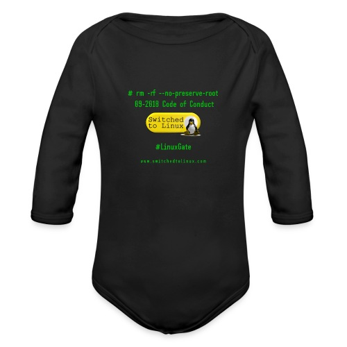 rm Linux Code of Conduct - Organic Long Sleeve Baby Bodysuit