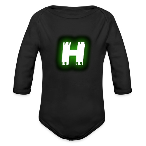 Hive Hunterz 'H' - Organic Long Sleeve Baby Bodysuit
