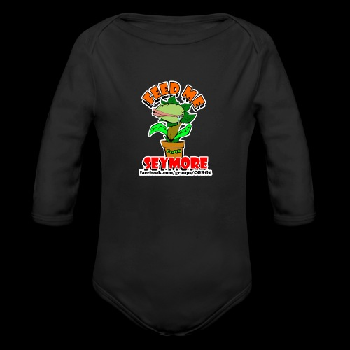 FEED ME SEYMORE - Organic Long Sleeve Baby Bodysuit