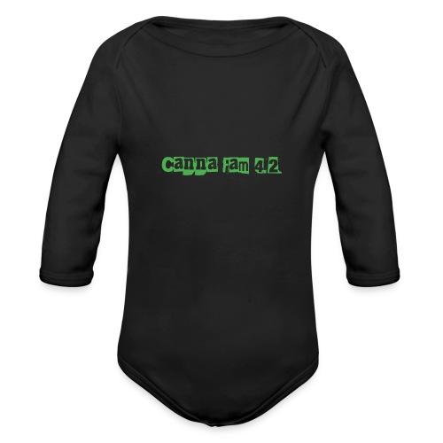 Canna fam 4.2 - Organic Long Sleeve Baby Bodysuit