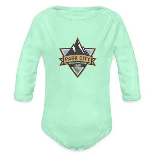 Park City, Utah - Organic Long Sleeve Baby Bodysuit