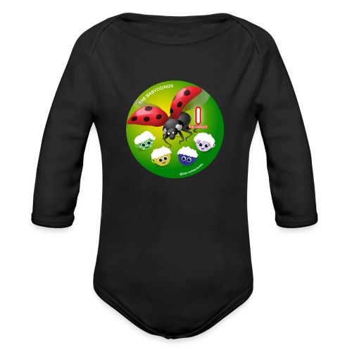 The Babyccinos Alphabet The Letter I - Organic Long Sleeve Baby Bodysuit
