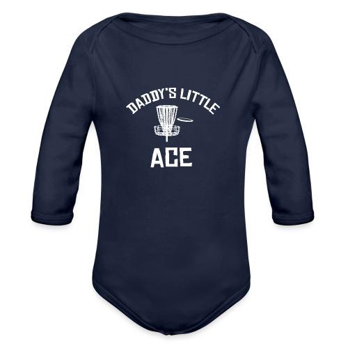 Daddy's Little Ace Disc Golf Shirt - Organic Long Sleeve Baby Bodysuit