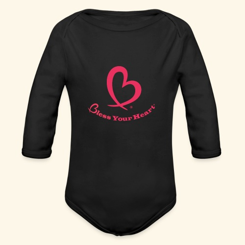 Bless Your Heart® Pink - Organic Long Sleeve Baby Bodysuit