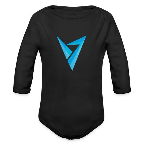 v logo - Organic Long Sleeve Baby Bodysuit