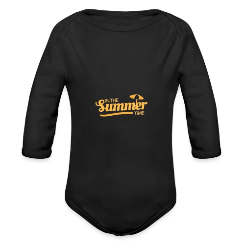 That Summer Feeling Babies collection - Organic Long Sleeve Baby Bodysuit