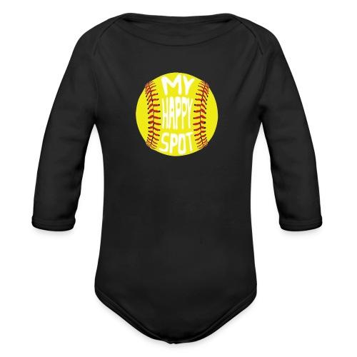 People s Republic of Burlington Softball - Organic Long Sleeve Baby Bodysuit
