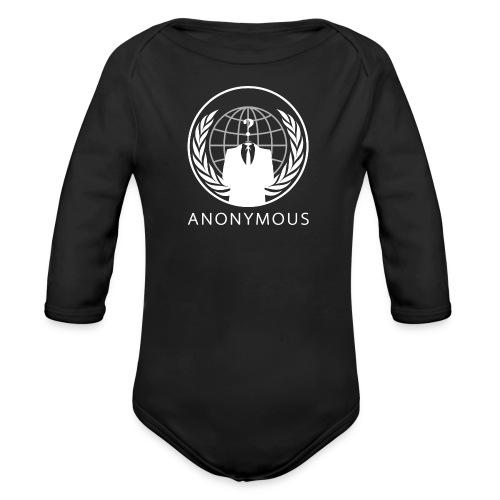 Anonymous 1 - White - Organic Long Sleeve Baby Bodysuit