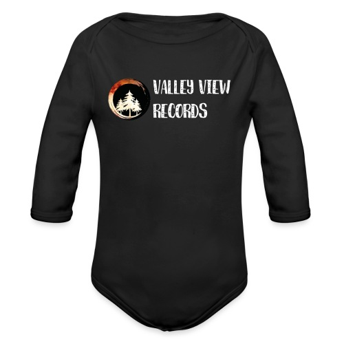 Valley View Records Official Company Merch - Organic Long Sleeve Baby Bodysuit
