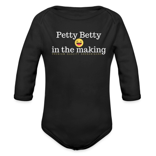 Petty Betty In The Making - Organic Long Sleeve Baby Bodysuit