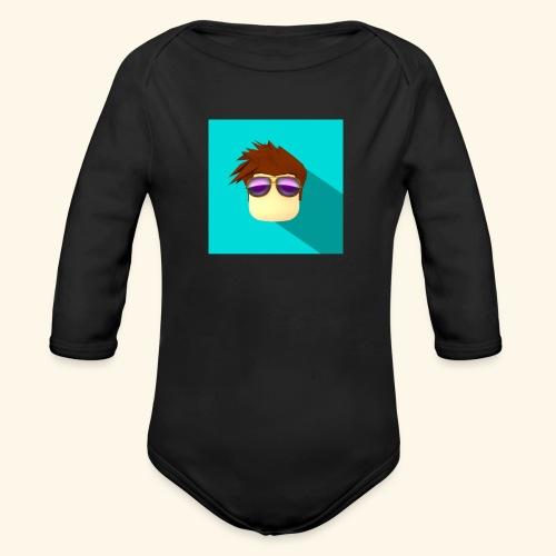 NixVidz Youtube logo - Organic Long Sleeve Baby Bodysuit