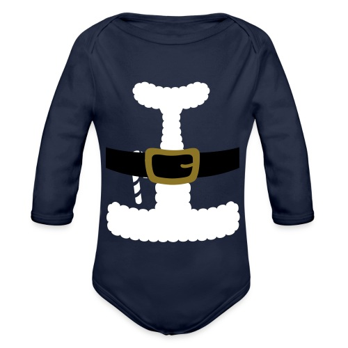 SANTA CLAUS SUIT - Men's Polo Shirt - Organic Long Sleeve Baby Bodysuit