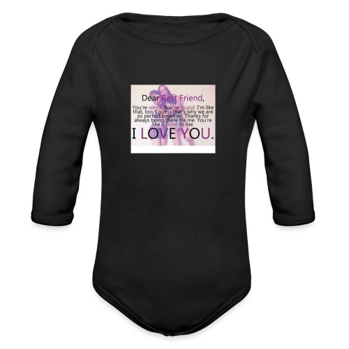 Cute best friends - Organic Long Sleeve Baby Bodysuit