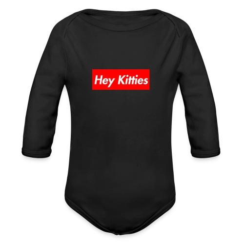 Hey Kitties - Organic Long Sleeve Baby Bodysuit