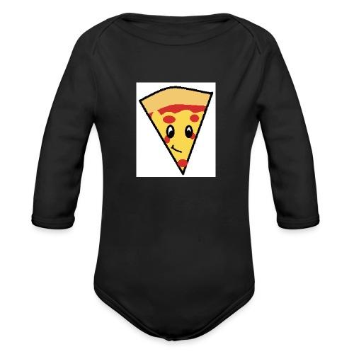 pizza 2 - Organic Long Sleeve Baby Bodysuit