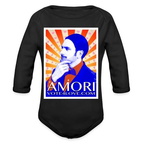 Amori_poster_1d - Organic Long Sleeve Baby Bodysuit