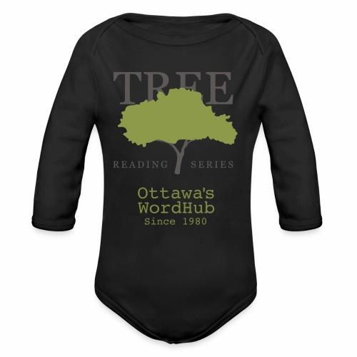 Tree Reading Swag - Organic Long Sleeve Baby Bodysuit