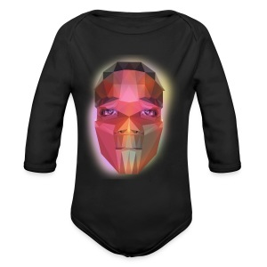 low poly face - Long Sleeve Baby Bodysuit