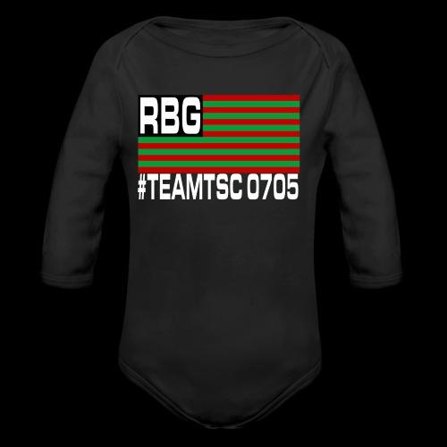 TeamTSC RBGFlag 2 - Organic Long Sleeve Baby Bodysuit