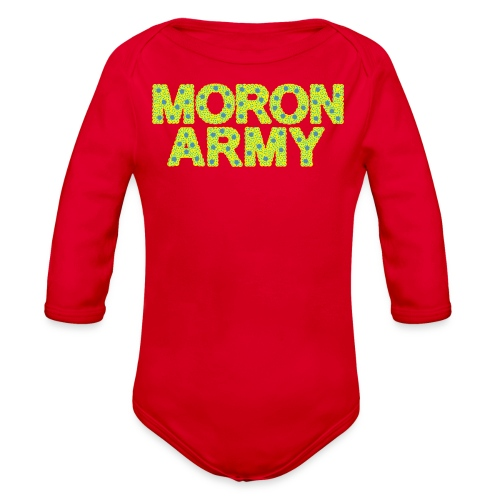 tshirt typefaceadjusted - Organic Long Sleeve Baby Bodysuit