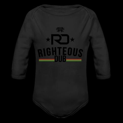Righteous Dub Logo - Organic Long Sleeve Baby Bodysuit