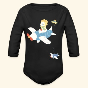 baby aircraft - Long Sleeve Baby Bodysuit