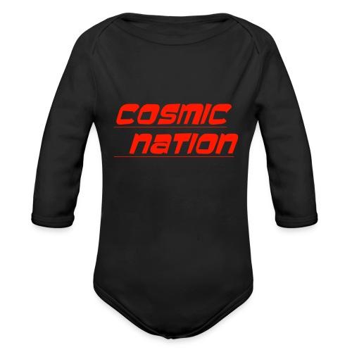 Cosmic Nation Logo - Organic Long Sleeve Baby Bodysuit