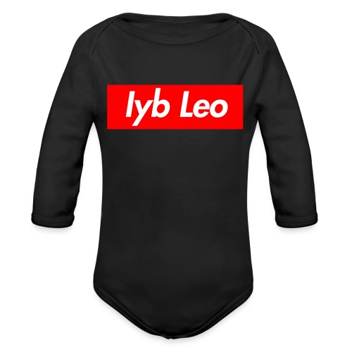 Iyb Leo Box Logo - Organic Long Sleeve Baby Bodysuit