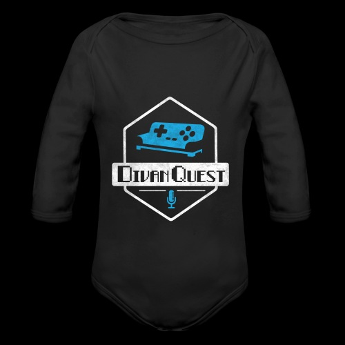 DivanQuest Logo (Badge) - Organic Long Sleeve Baby Bodysuit