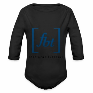 Fort Bend Tutoring Logo [fbt] - Long Sleeve Baby Bodysuit