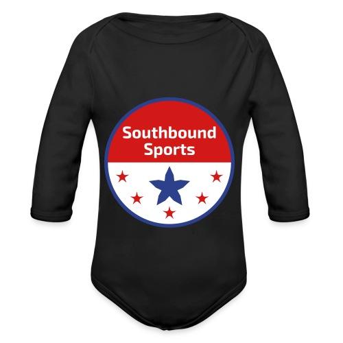 Southbound Sports Round Logo - Organic Long Sleeve Baby Bodysuit