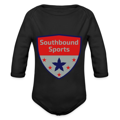 Southbound Sports Crest Logo - Organic Long Sleeve Baby Bodysuit