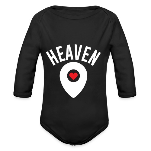 Heaven Is Right Here - Organic Long Sleeve Baby Bodysuit