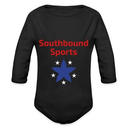 Southbound Sports Stars Logo - Organic Long Sleeve Baby Bodysuit