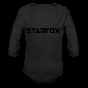 STARFOX Text - Long Sleeve Baby Bodysuit